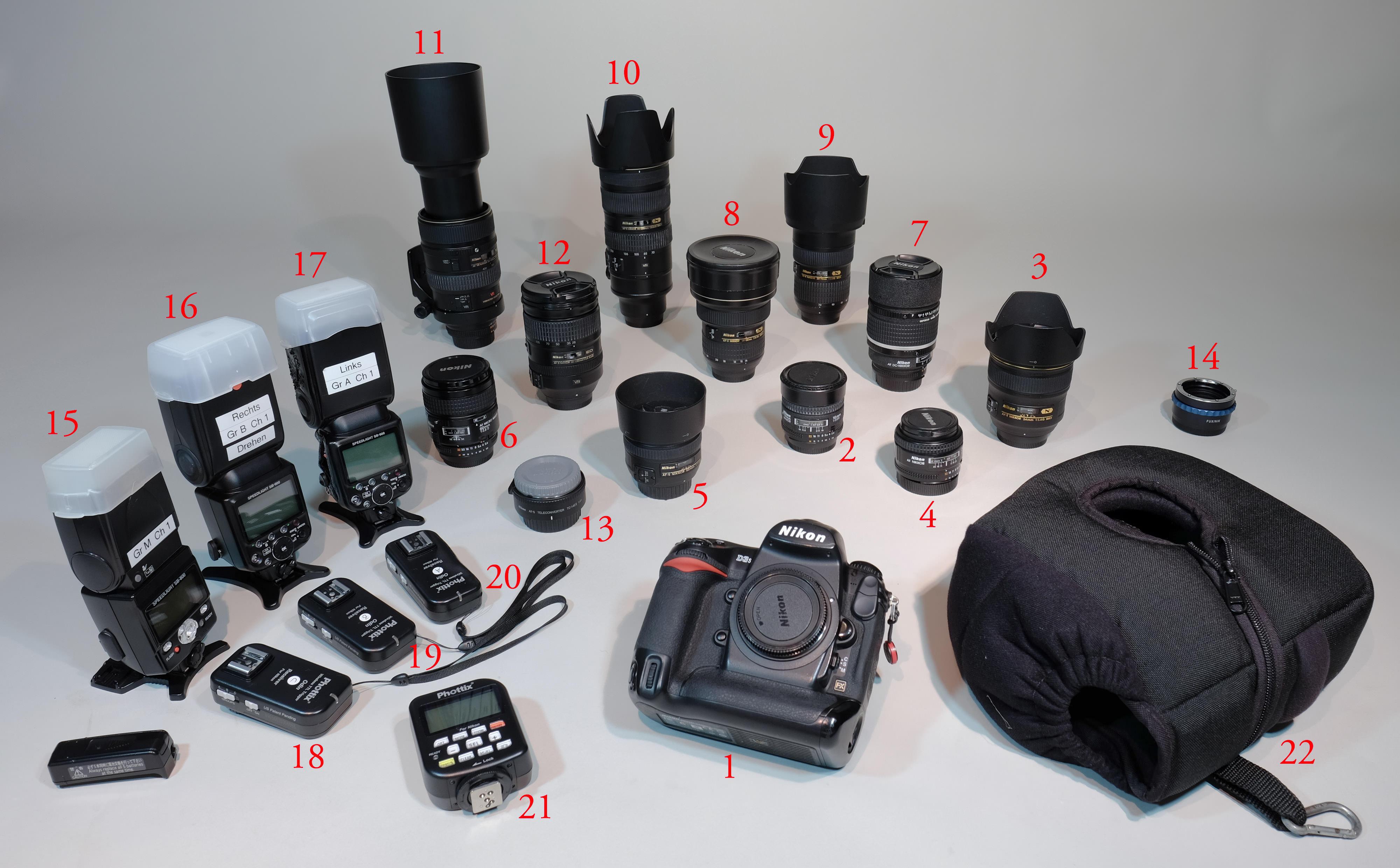 Professionelle Nikon-Ausrüstung zu verkaufen
